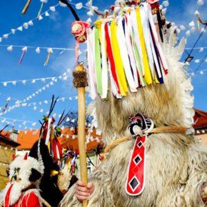 kostuum van Sloveense carnaval