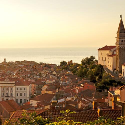 Piran aan Sloveense kust; foto bron Mijn Slovenië