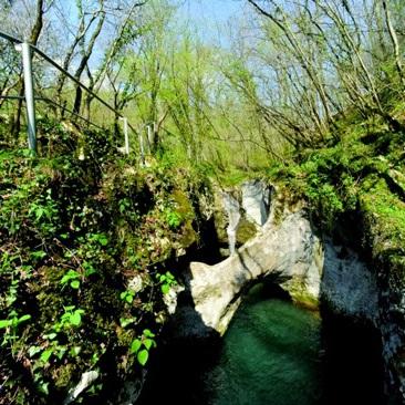 wandelen naar een natuur fenomeen in Brda