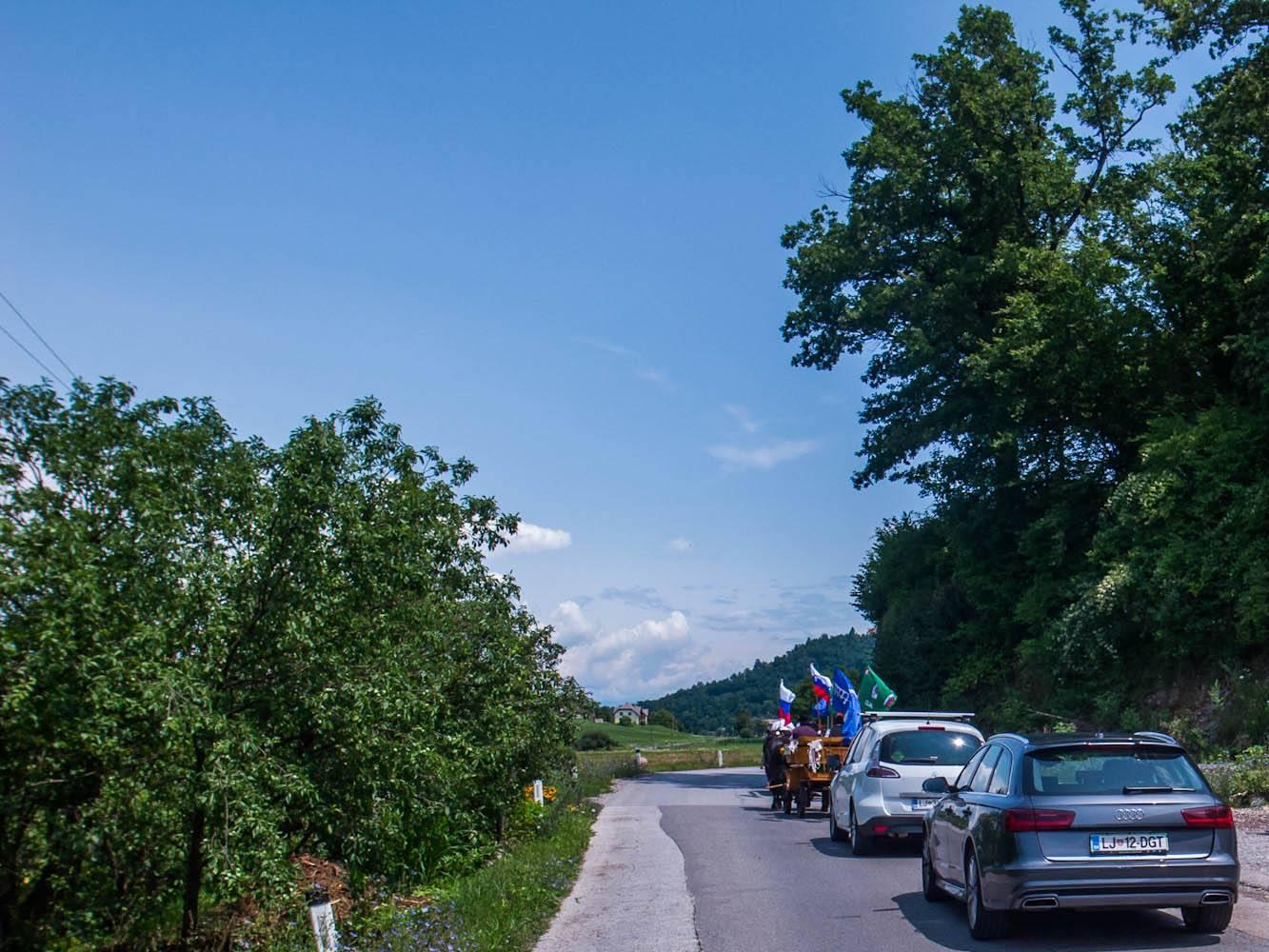 autovakantie auto slovenië weg