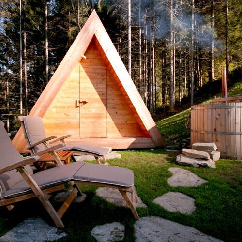 glamping bij Bled meer in Slovenië; foto A. Videtic; bron Sava Hotels & Resorts