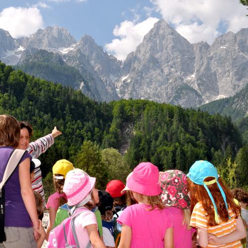 op vakantie met kinderen in Kranjska Gora in Slovenië