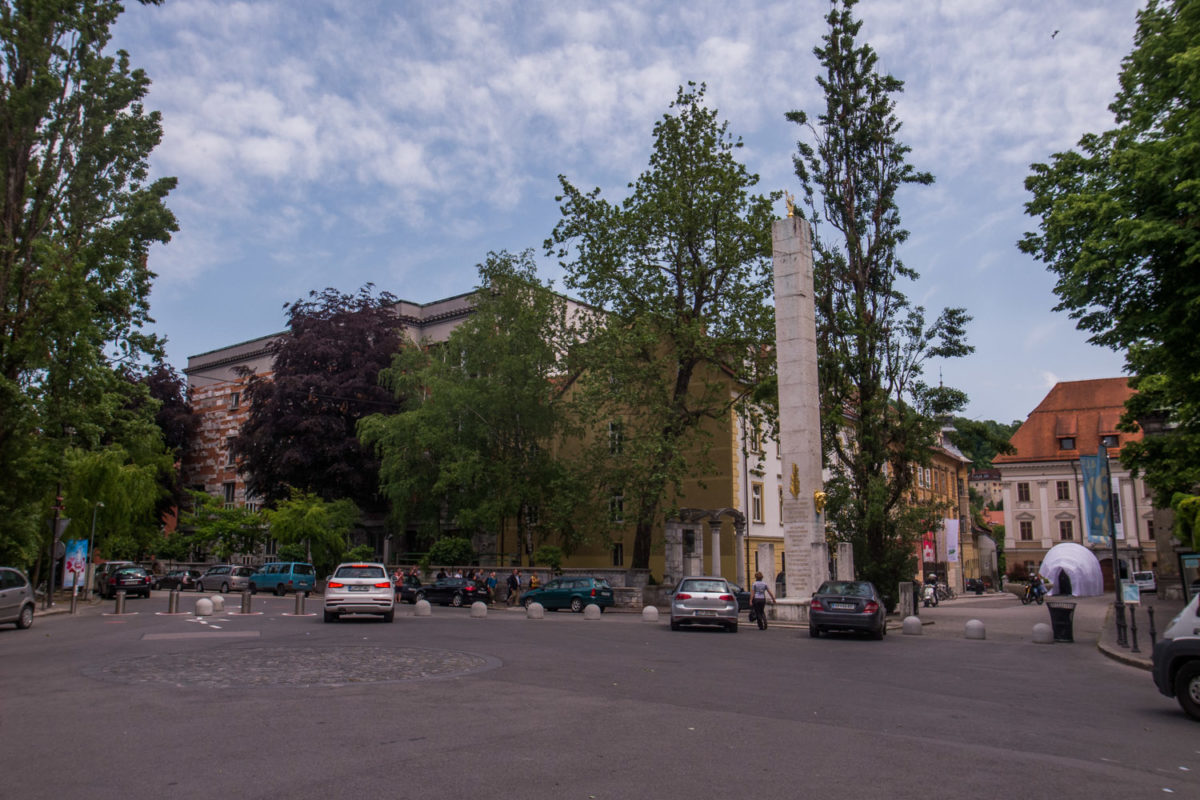 Plein van de Franse Revolutie in Ljubljana. Bron Mark Koghee