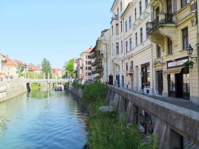 rivier in Ljubljana, bron Mijn Slovenië