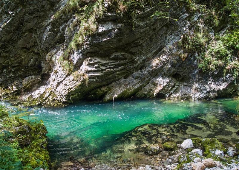 blau, water, vintgar, bron M.Koghee, MijnSlovenie