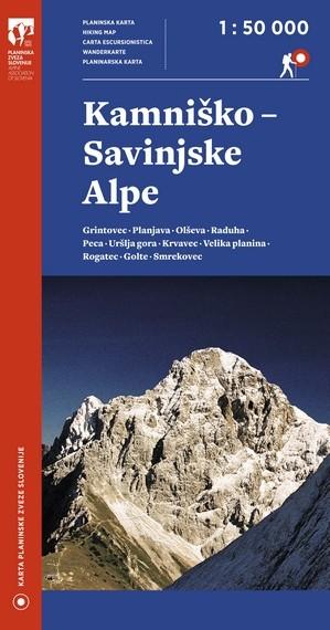 wandelkaart Kamnik en Savinja Alpen