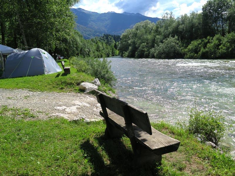 danica camping, sava bohinjka, bron mijnslovenie