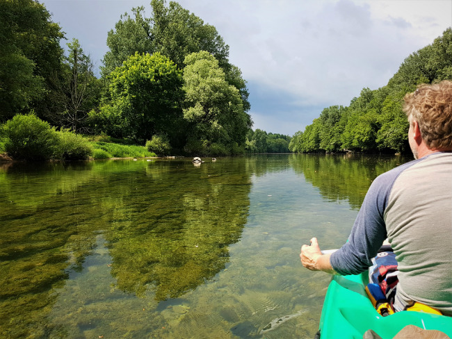 canoe op Kolpa rivier