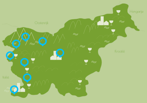 route fietsvakantie Slovenie west