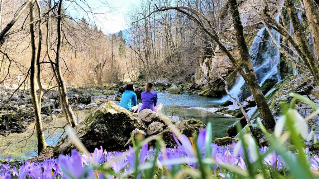 lente in Soca vallei in Slovenie