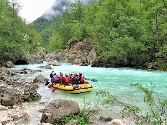 rafting Soca Slovenie