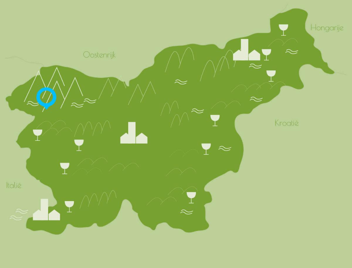 wandelvakantie in Soca vallei in Slovenie