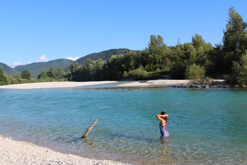 Soca rivier Slovenie