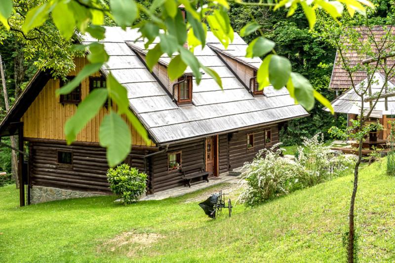 tuin vakantiehuis Slovenie