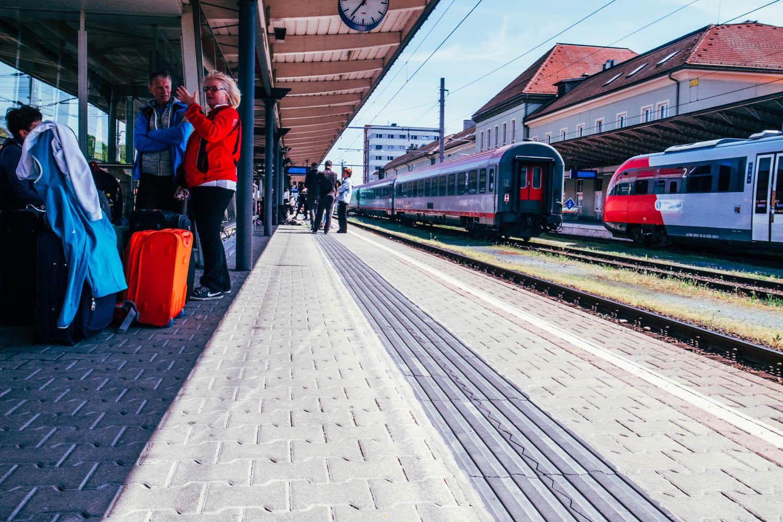 Station Villach, overstapstation voor treinen naar Slovenië. Bron Mark Koghee