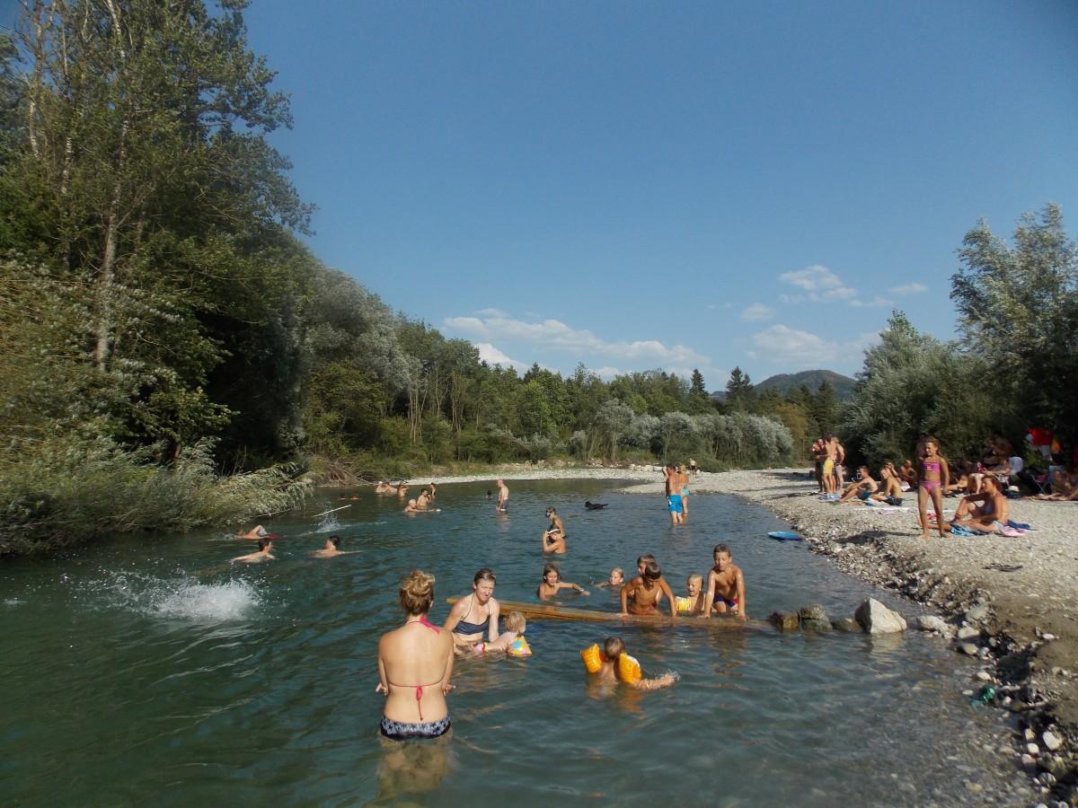 camping savinja zwemmen kinderen vakantie