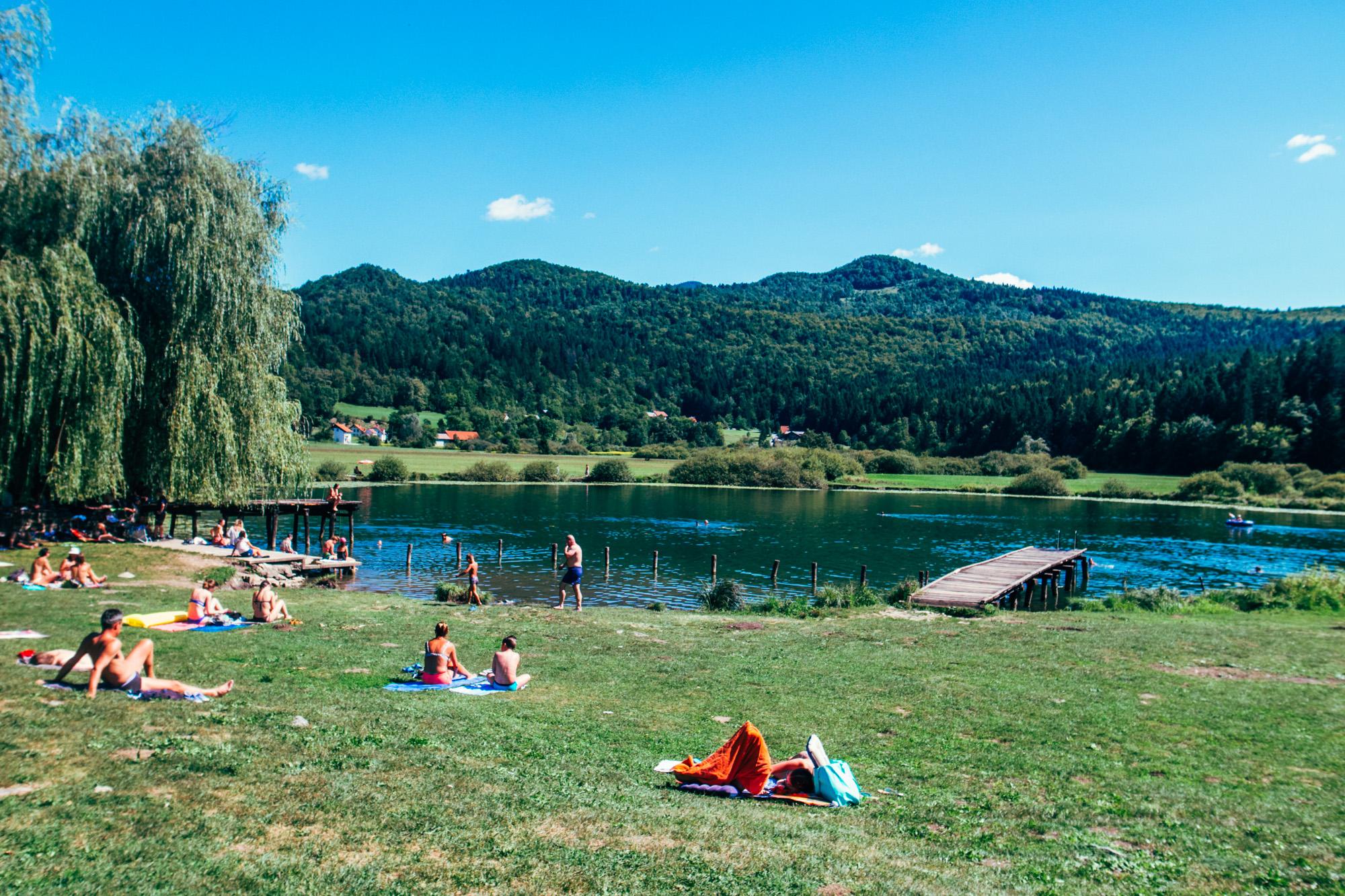 slovenie vakantie zwemmen