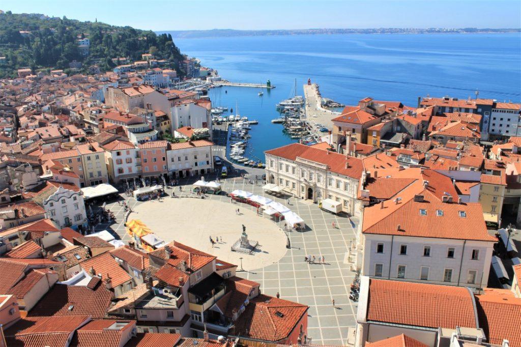 Piran Slovenie kust najaar
