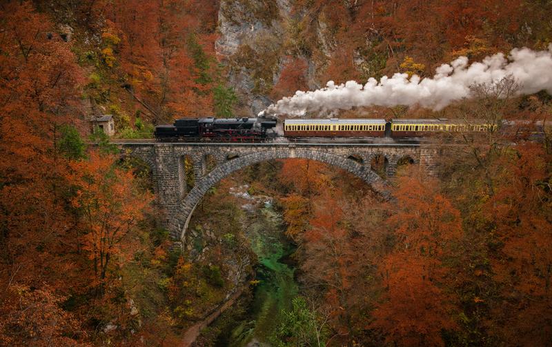treinreis Julische Alpen Slovenie herfst