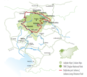 wandelen julische alpen langeafstandsroute wandelvakantie