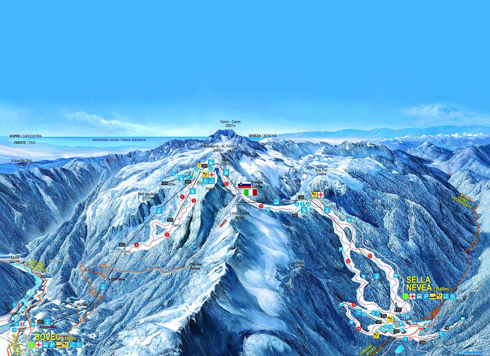 Kanin wintersport Slovenie Julische Alpen