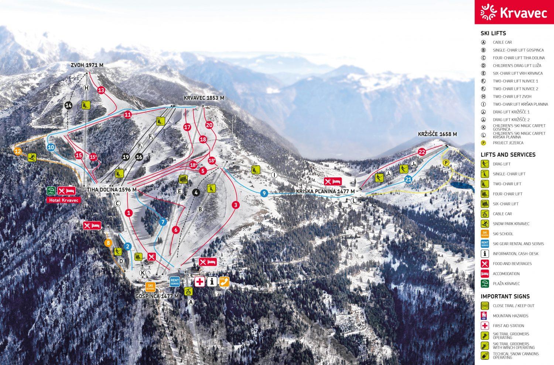 krvavec skiresort Slovenie ski