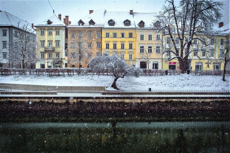 winter Ljubljana Slovenie