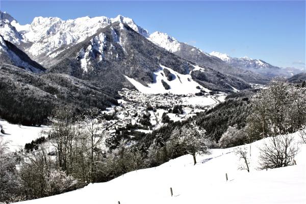 Slovenie ski kranjska Gora Julische Alpen
