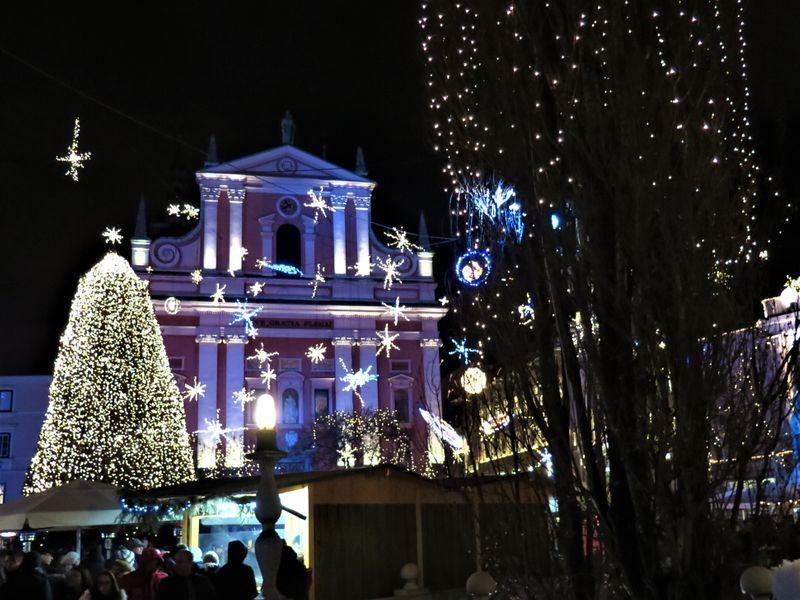 kerst Ljubljana Slovenie