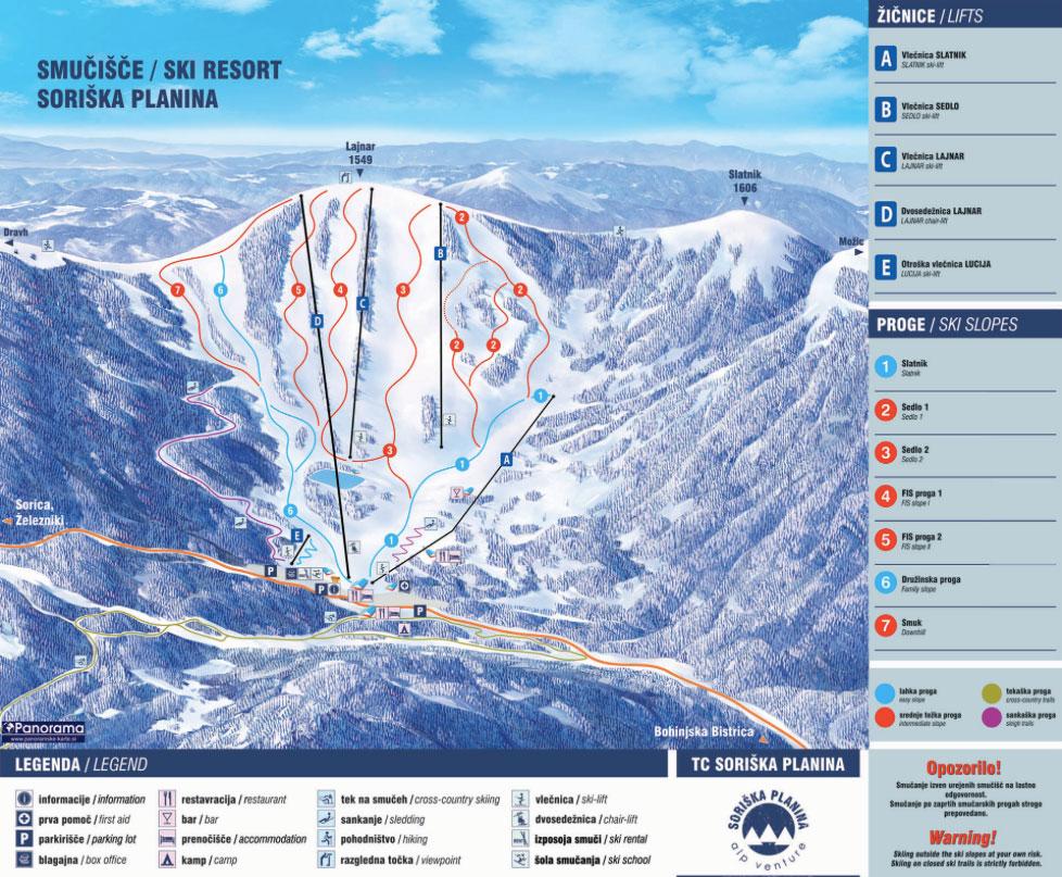 soriska planina skiresort Slovenie wintersport
