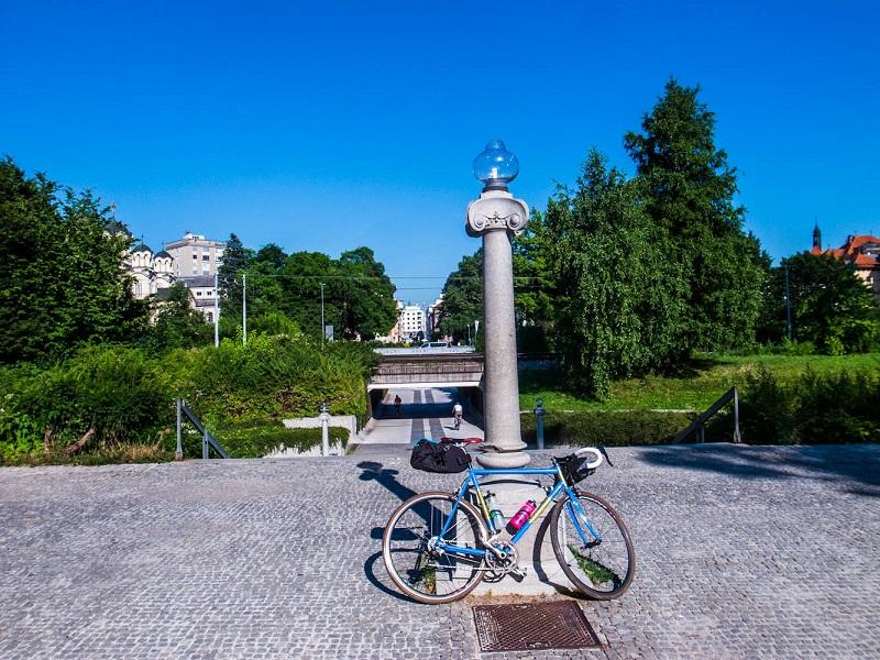 Fietsen Tivoli Park Ljubljana
