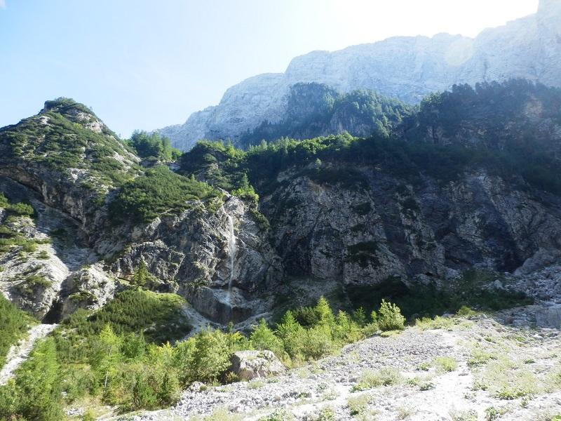 Huttentocht Kranjska Gora - waterval