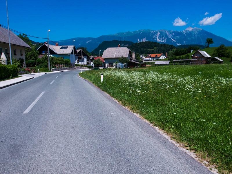 fietsen weg naar Bled