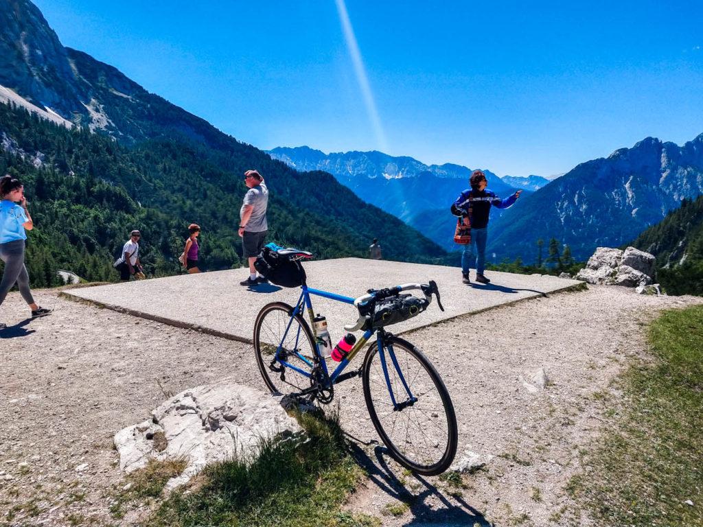 fiets bergpas Slovenië