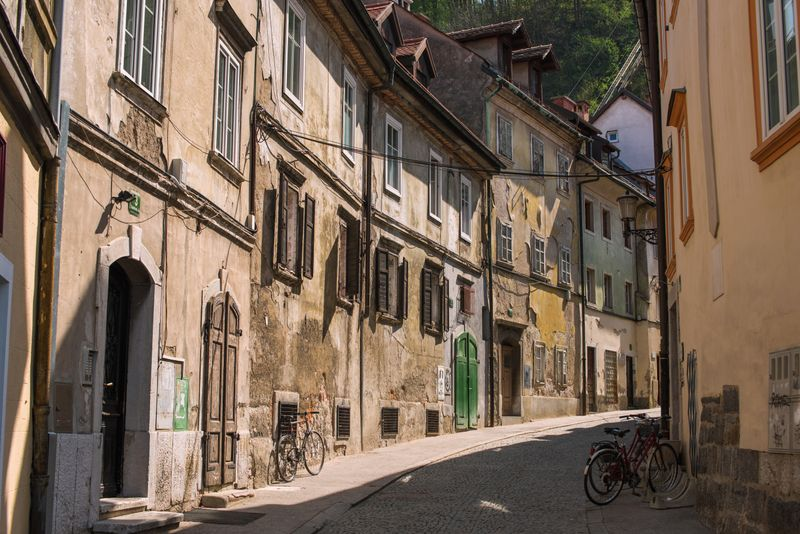 met de fiets door Ljubljana