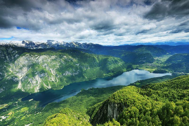 Bohinj meer Julische Alpen