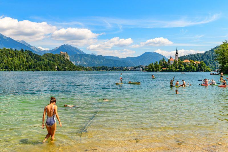 Bled meer Slovenei