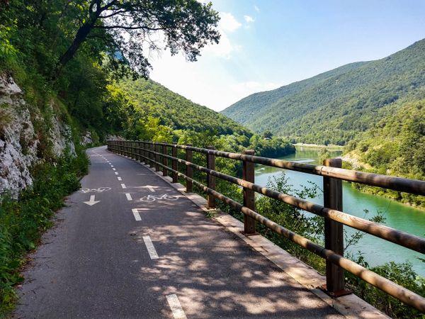 Soča vallei fietsvakantie Slovenie