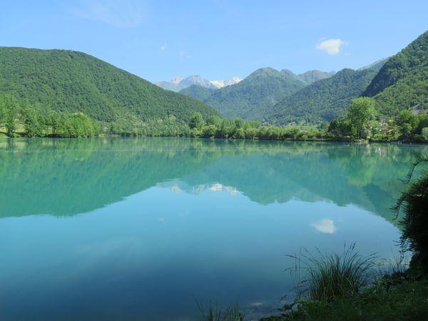 Tolmin rivier fietsvakantie Slovenie