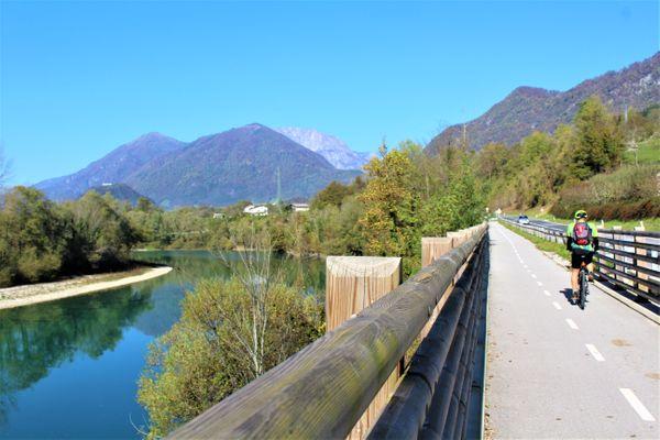Soča fietsvakantie Slovenie