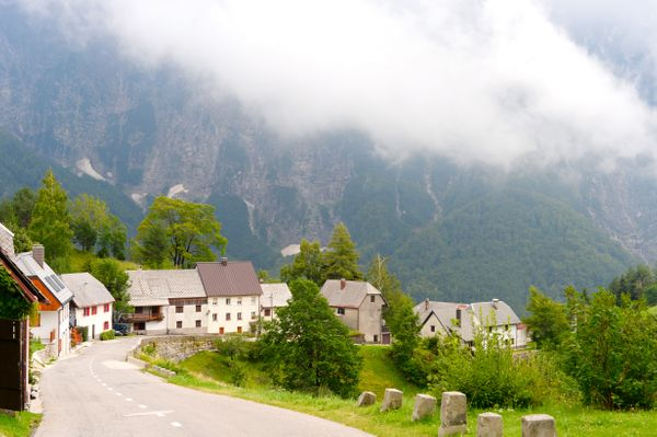 bergpas Slovenie met moto