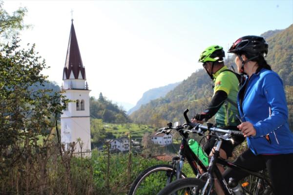 Soča vallei per fiets