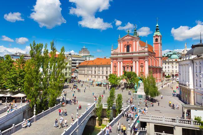 drie bruggen Ljubljana citytrip