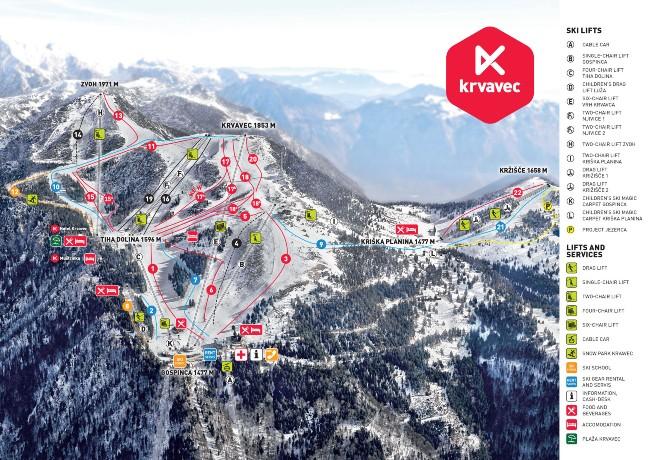 Krvavec wintersport Slovenië