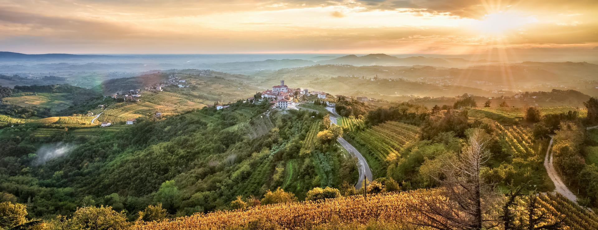 Brda panorama wijnregio slovenië