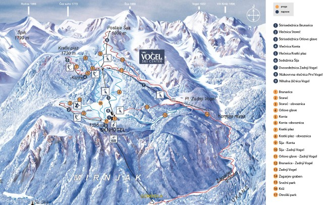 wintersport Slovenie Vogel Bohinj