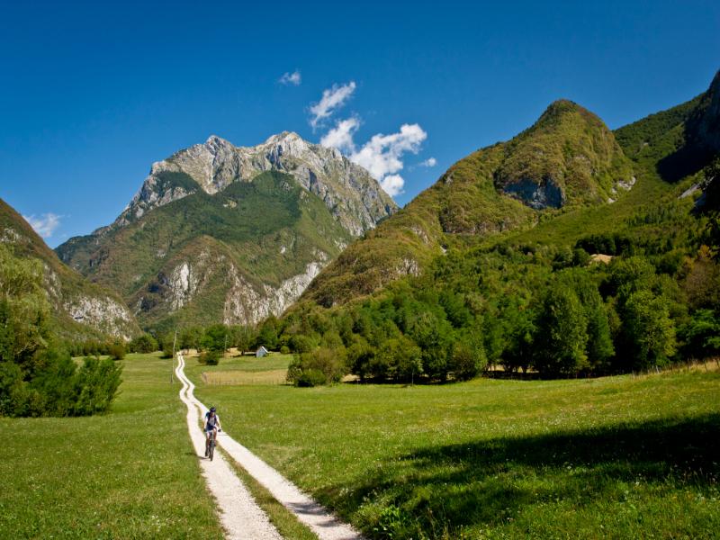 Mountainbiken door Soca vallei