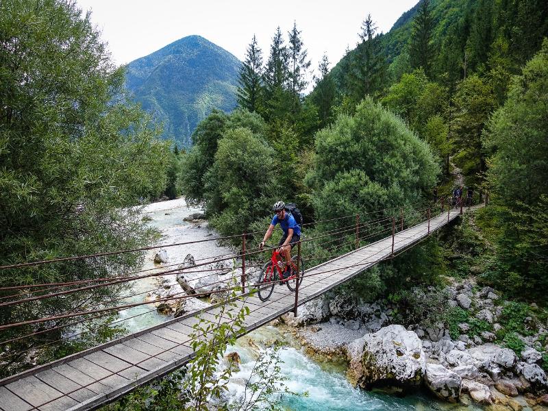 Mountainbike Soca valley