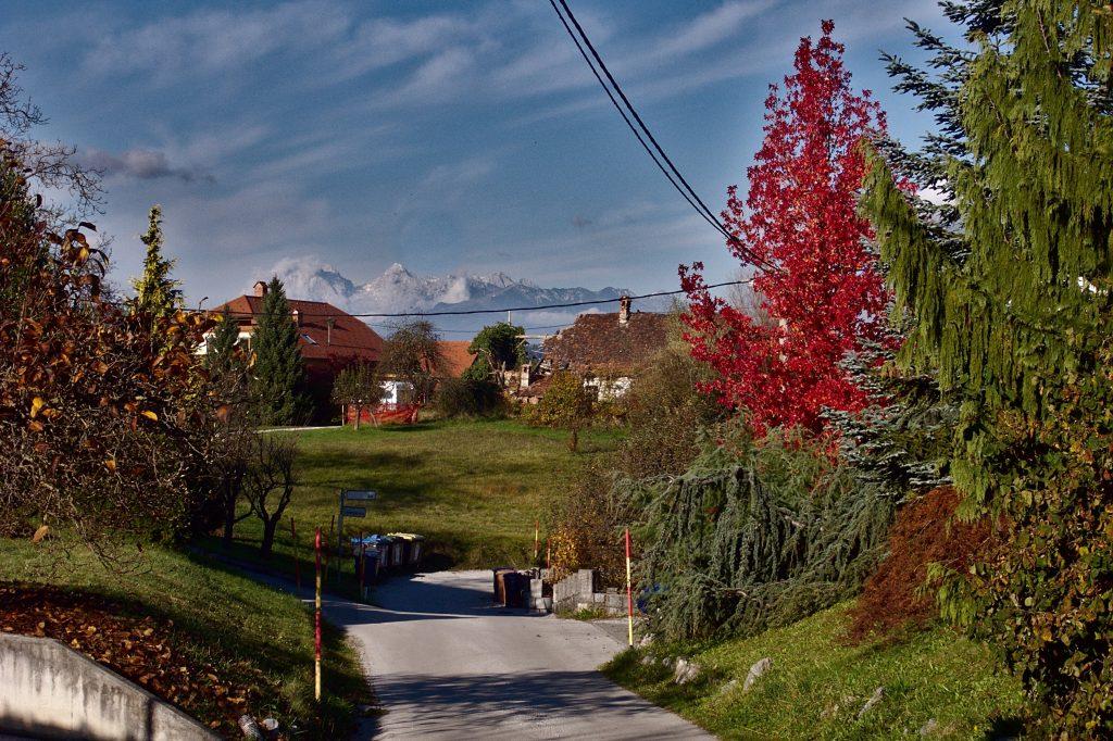 uitzicht slovenie herfst bergen