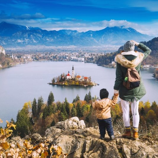 Bled meer najaar Slovenie
